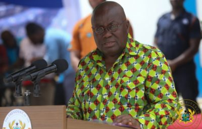 President Akufo-Addo speaking at the centenary celebrations of Asuansi Technical Institute