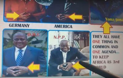 Prez. Nana Addo, Prez. Mahama, Abeiku Santana etc Displaying illuminati Signs