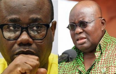 GFA President Kwesi Nyantakyi (Left) and Ghana President Akufo-Addo (Right)