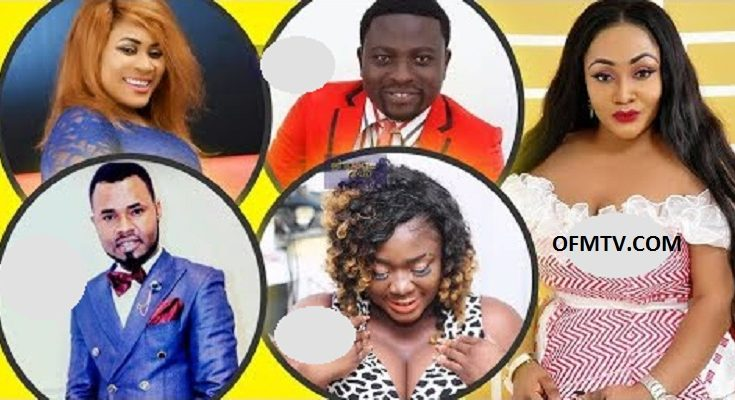 From Top: Nayas, Bro Sammy, Francisca Nana Sarpong, Ernest Opoku and Tracey Boakye