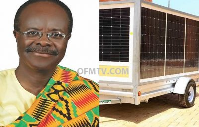 Paa Kwesi Ndoum Manufactures Mobile Solar Power Trailer