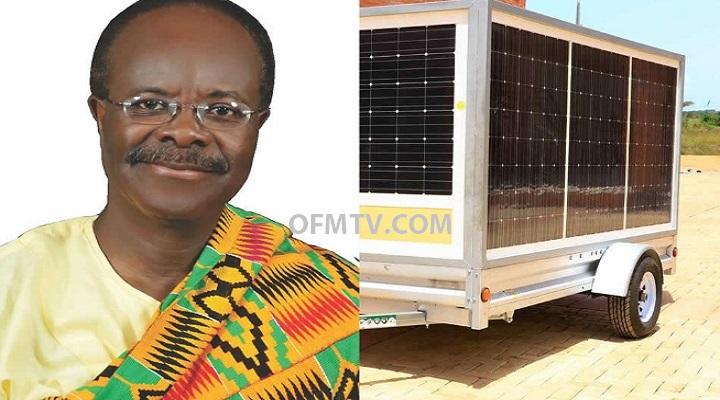 Paa Kwesi Ndoum Manufactures Mobile Solar Power Trailer