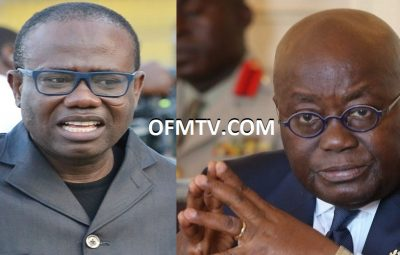 Ghana Football Association President Kwesi Nyantakyi (Left) And President Akufo-Addo (Right)