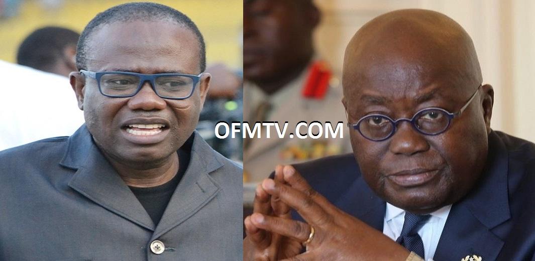 Ghana Football Association President Kwesi Nyantakyi (Left) And President Akufo-Addo (Right)