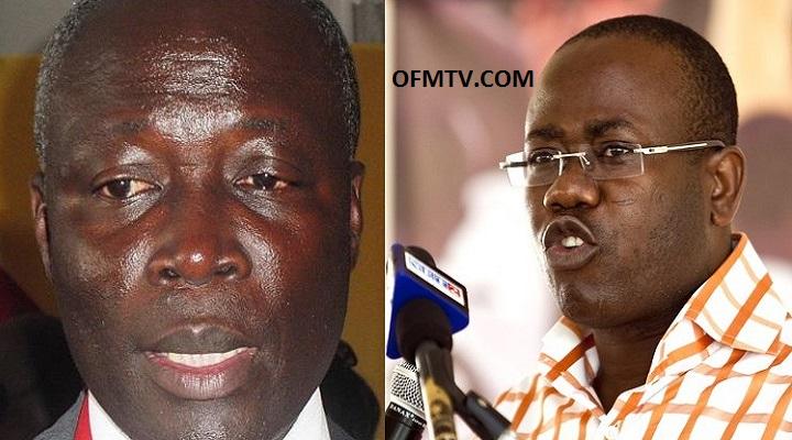 Former Sports Minister, Edwin Nii Lante Vanderpuye And GFA Boss Kwesi-Nyantakyi