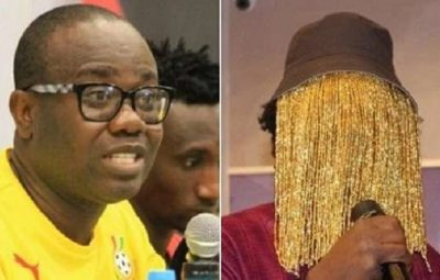 Anas Aremeyaw Anas (Right), an award-winning investigative journalist and Kwesi Nyantakyi, Former GFA Boss (Left)