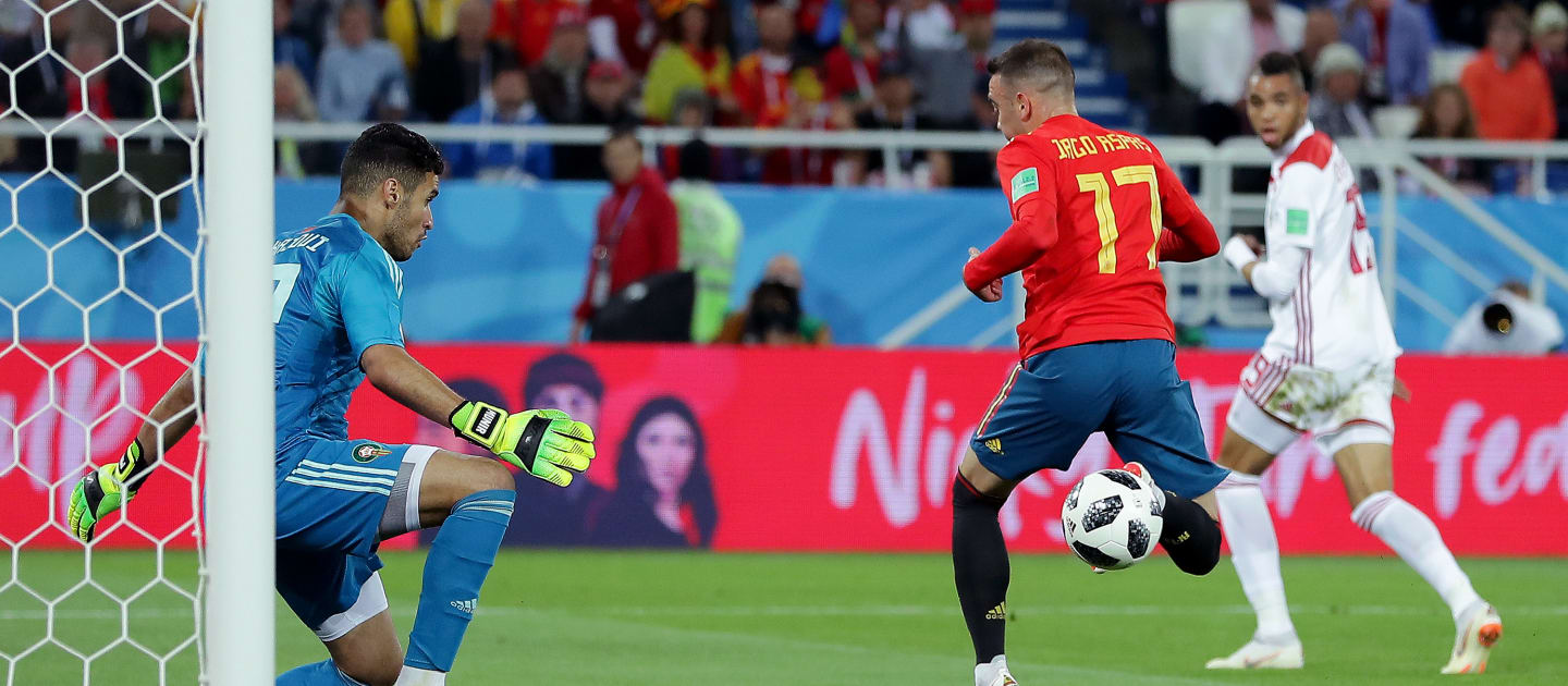 Spain vs Morocco [2:2] - Spain clinch late equaliser to top Group B