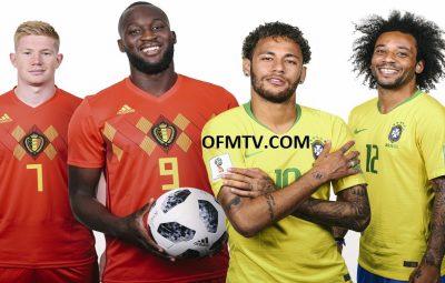 Kevin DE BRUYNE, Romelu Lukaku, Neymar da Silva Santos Júnior and Marcelo Vieira da Silva Júnior