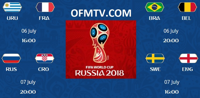 2018 FIFA World Cup Russia™ Quarter-Finals Teams & Matches