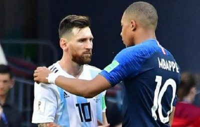 France's Kylian Mbappe at FIFA World Cup 2018, sent Lionel Messi and co home
