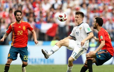 Russia defeat Spain 4-3 on penalties