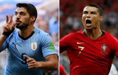 Luis Suárez (Left) and Cristiano Ronaldo (Right)