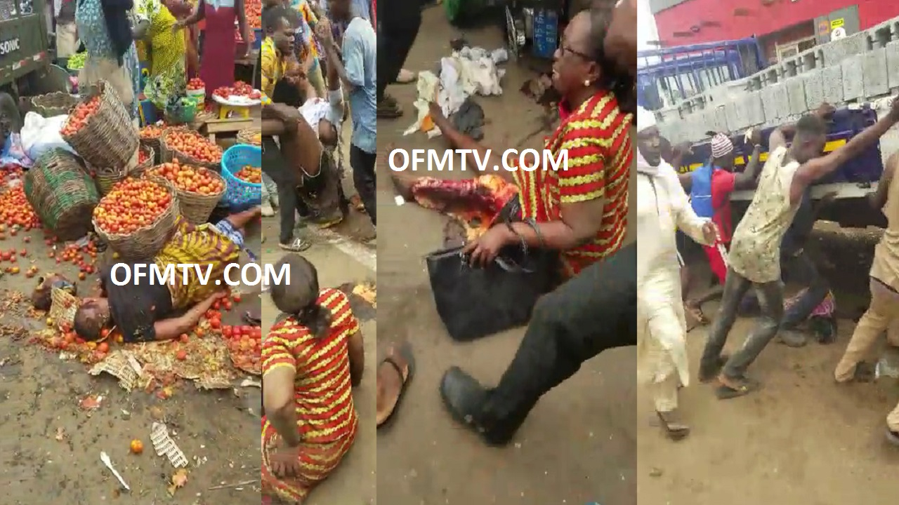 KIA track failed break at Ashaiman - Ghana traffic light and runs over Market women