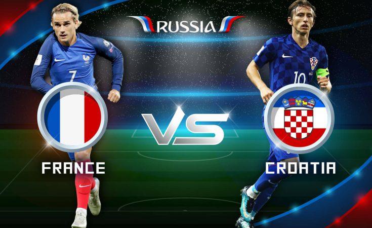 France vs Croatia at Luzhniki Stadium, Moscow - Russia, 2018 FIFA World Cup.