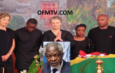 Kofi Annan's wife, dignitaries pay last respects ahead of burial