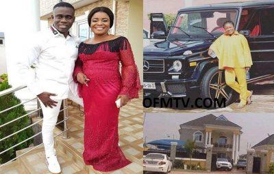 Award-winning Ghanaian gospel musician Ohemaa Mercy and her husband, Mr. Isaac Twum-Ampofo