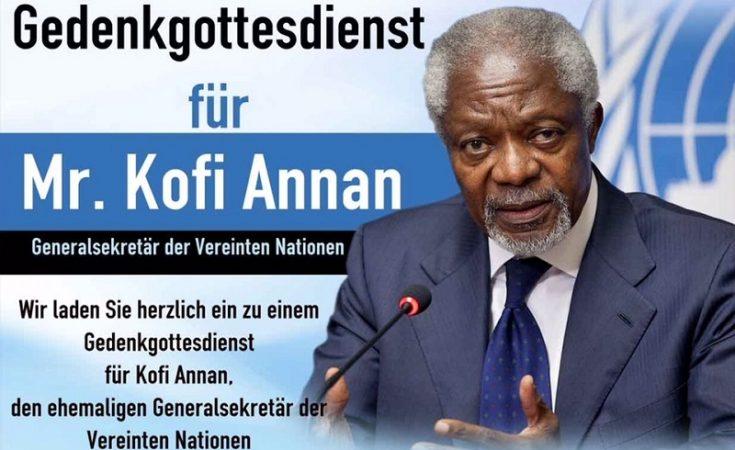 Former Late United Nations Secretary-General, Mr. Kofi Annan
