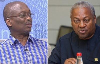 Abdul Malik Kweku Baako Jnr. and Former President John Dramani Mahama
