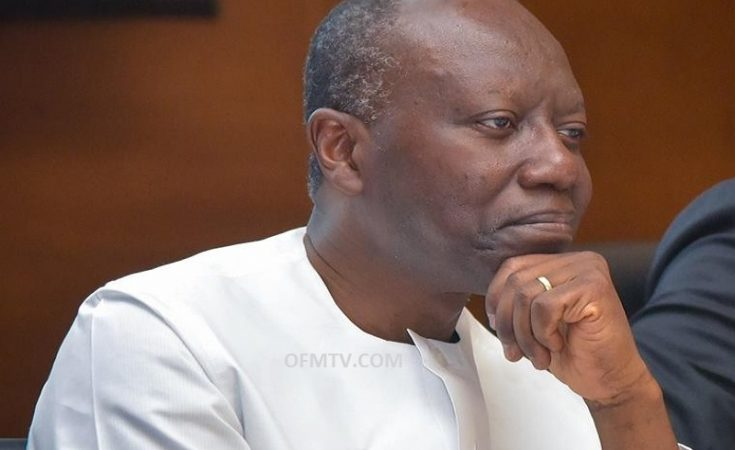 Finance Minister, Ken Ofori-Atta reading the budget statement to the House
