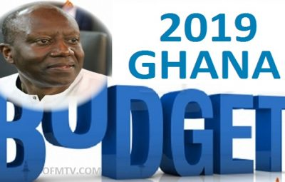 Finance Minister, Ken Ofori-Atta presenting the 2019 budget in parliament