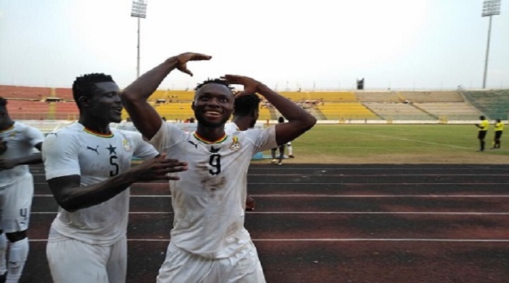 Black Meteors players celebrating their victory over Togo