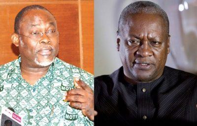 Dr. Spio-Garbrah and Ex-President John Dramani Mahama