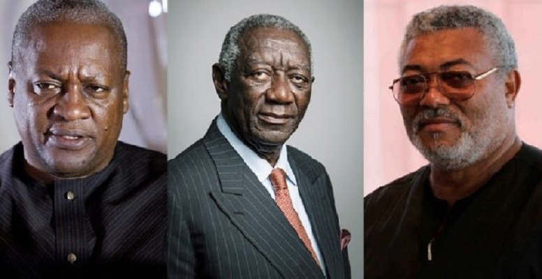 John Mahama, John Kufuor and John Rawlings