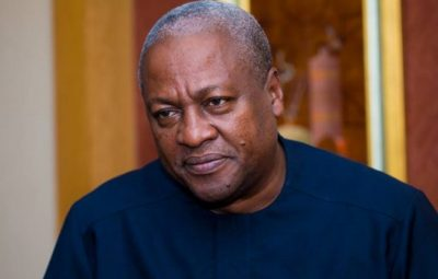 ohn Dramani Mahama is a Ghanaian politician who served as President of Ghana from 24 July 2012 to 7 January 2017.