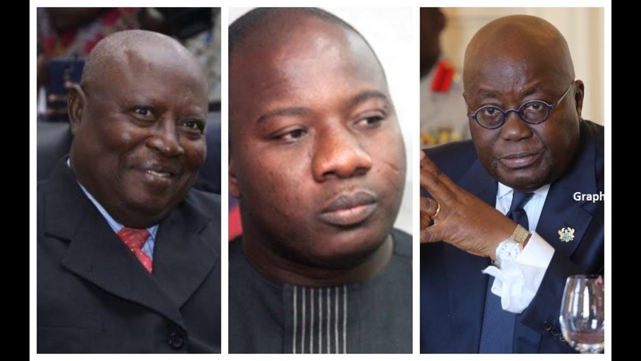 Special Prosecutor Martin Amidu, Hon. Mahama Ayariga & Nana Addo Dankwa Akufo-Addo, President of Ghana.