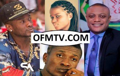 Ghana Black Stars Captain Asamoah Gyan, Sarah Kwablah and Lawyer Maurice Ampaw