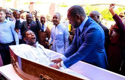 Pastor Alph Lukau - founder of Alleluia Ministries International and ex-dead man Eliot