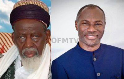 Ghana's National Chief Imam Dr. Sheikh Osmanu Nuhu Sharubutu And Prophet Emmanuel Badu Kobi (Right)