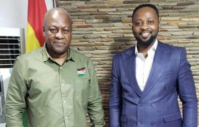Former President John Dramani Mahama and Bishop Dr Samuel Ben Owusu