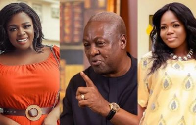 Actress Tracey Boakye, Former President John Mahama And Singer MzBel